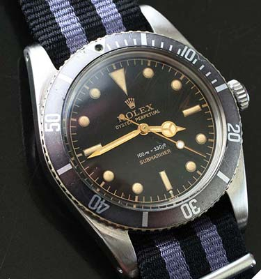 rare james bond rolex submariner ref 5508 exclamation dial used and vintage watches for sale. Black Bedroom Furniture Sets. Home Design Ideas