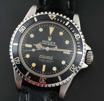 Rolex Submariner 5512 Gilt Dial Underline 4 Line Script Circa 1963