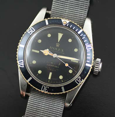 Rare Vintage Rolex 6538 Big Crown Submariner Used And Vintage