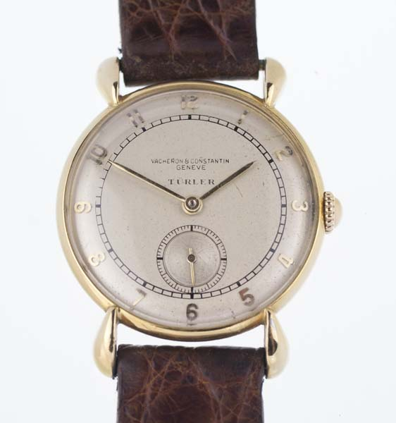 3a7cb60c8aae3 Vacheron Constantin solid gold watch with crab lugs marked Turler - Used  and Vintage Watches for Sale