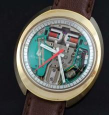 Bulova Accutron oval shaped watch