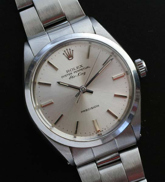 Rolex Air King With Satin Dial And Oyster Bracelet Circa