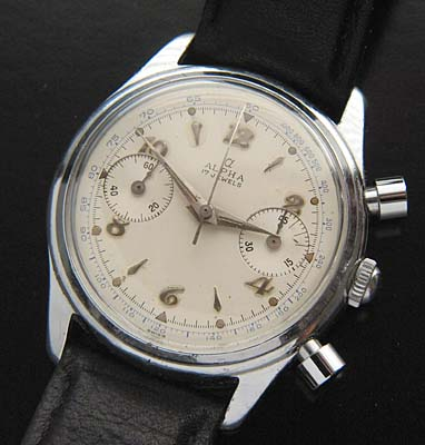 Vintage Watches For Sale >> Alpha Vintage Chronograph Wristwatch Used And Vintage Watches