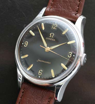 omega large manual wind watch circa 1955 with angled lugs used and rh yorktime com omega manual wind 9ct gold de - ville omega manual wind watch