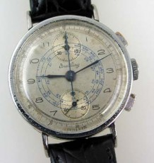 Antique Breitling up/down chronograph