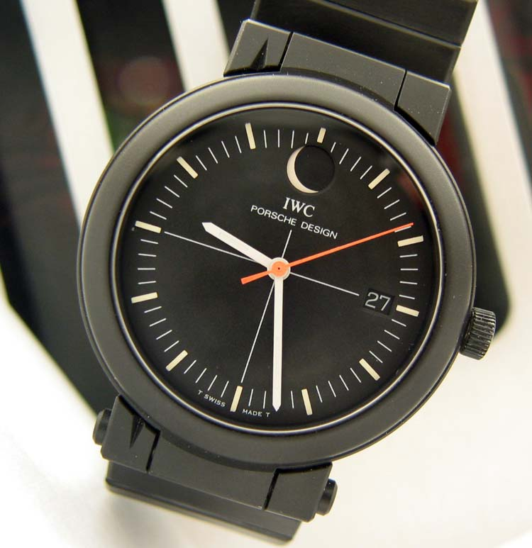 Vintage Iwc Porsche Design Moonphase Compass Watch Used And