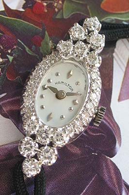 Hamilton Ladies Vintage Diamond Watch Used And Vintage