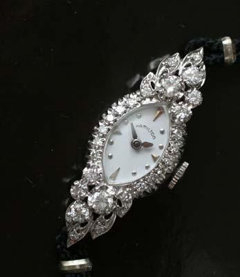 Ladies antique Hamilton diamond cocktail watch