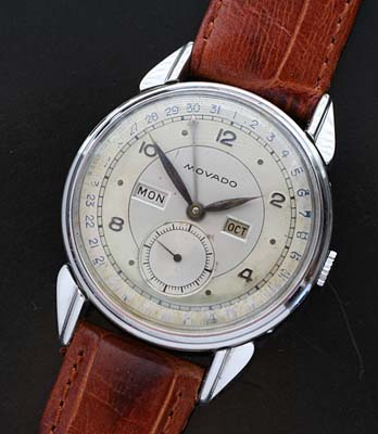 Vintage Movado Triple Calendar wrist watch stainless steel - Used and  Vintage Watches for Sale 14d4f73173e8