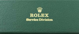 Rolex service division shipping and storage box