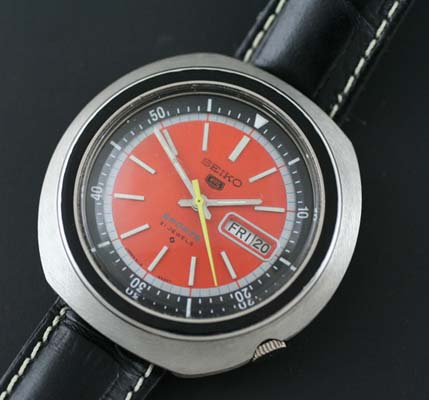 Seiko 5 Sports With Orange Dial Used And Vintage Watches