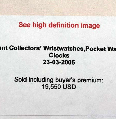 Antique Patek Philippe auction results