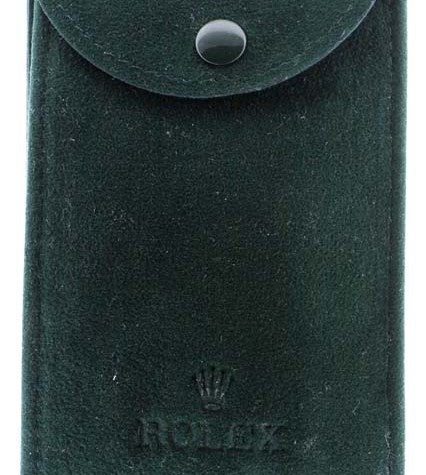Rolex service leather pouch
