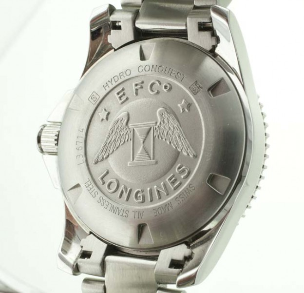 Longines HydroConquest case back