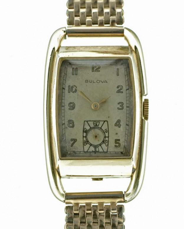 Bulova vintage watch close up