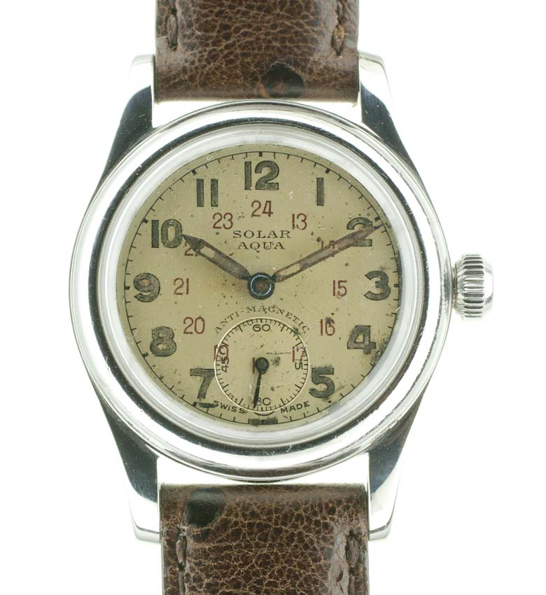 Solar aqua by rolex watch company used and vintage watches for sale for Aqua marine watches