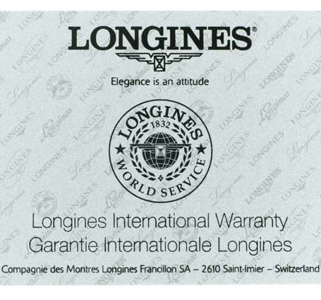Longines Conquest warranty card