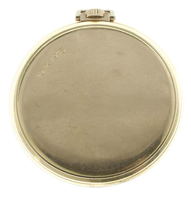 IWC pocket watch case back