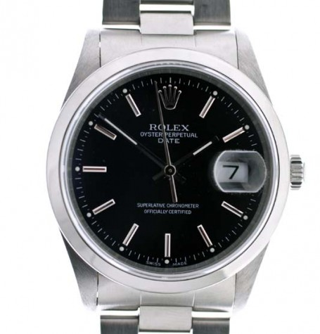 Rolex Oyster Perpetual Date black dial