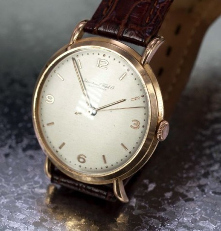 vintge gold IWC watch