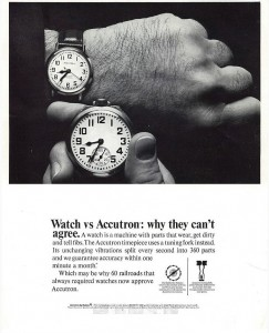 Bulova Accutron railroad watch RR 218 Canadian Railroad Ad