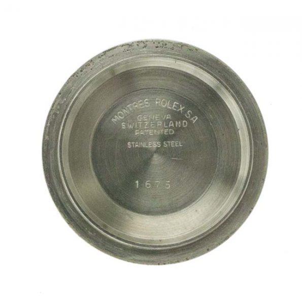 Rolex GMT 1675 inner caseback