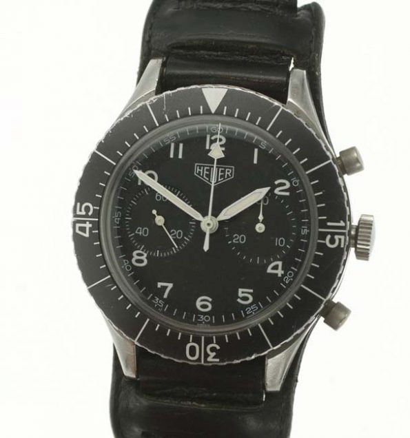 Heuer Bund chronograph military watch